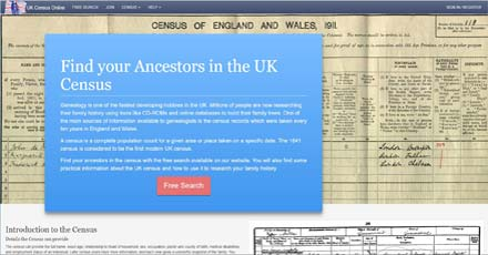UK Census Online site